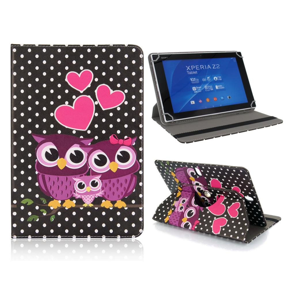 10 zoll tablet tasche eule universal schutzh lle owl case etui schwarz 360 grad ebay. Black Bedroom Furniture Sets. Home Design Ideas