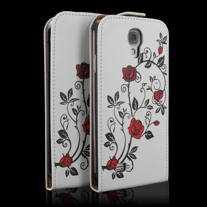 handy tasche flip case samsung galaxy s4 mini gt i9195 handytasche rose rot ebay. Black Bedroom Furniture Sets. Home Design Ideas